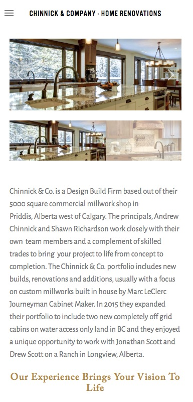 Chinnick & Co website